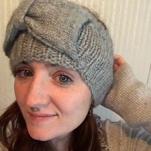 Accessories - Grey soft Bow winter headband